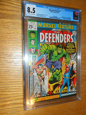 Marvel Feature 1 Defenders CGC 8.5 VF+ OW/White pages 12/71 Origin 1st appear