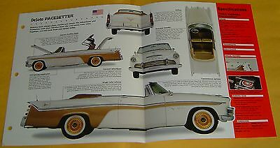 1956 Desoto Pacesetter Convertible 341 ci Hemi 320hp Fireflite 8 Info/Spec/photo
