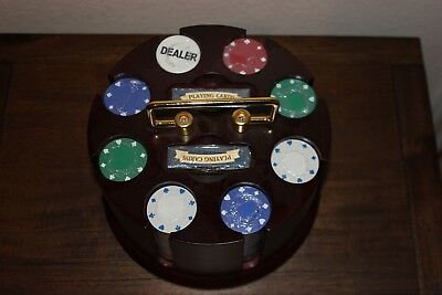 New without Box Cardinal Poker Revolving Rack Spinning Caddy Texas Hold 'Em