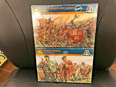 LOT of 2  Italeri  1/72  Roman heavy cavalry + English Knights and archers