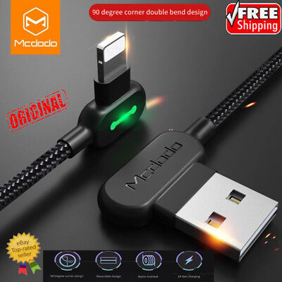 Lightning Bolt Smart Braided Charging Cable Fast Charging cable F iPhone Samsung
