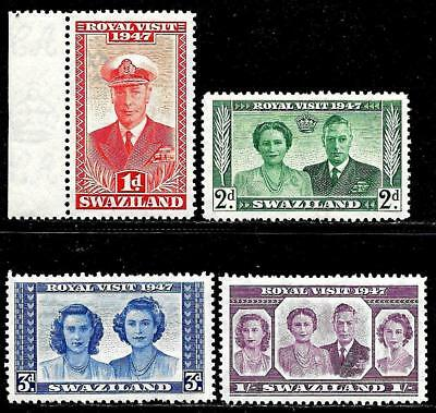 British Colony SWAZILAND 1947 Old Mint Stamps - Royal Visit