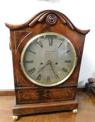 double fusee mahogany bracket clock eames bath for restore