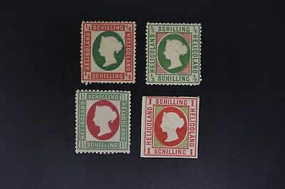 Heligoland #1a, 2, 8,12 four F/VF mint hinged SOLD AS IS (v208)