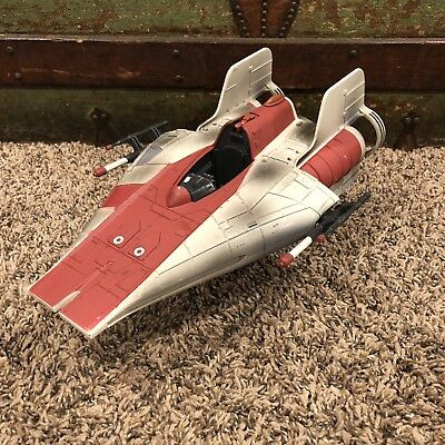 STAR WARS Alliance Red A-WING Fighter vehicle 1997 Hasbro POTF
