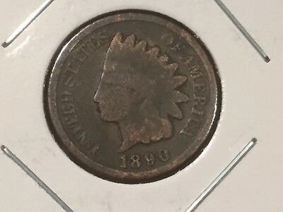 1900 US Indian Head one cent coin.