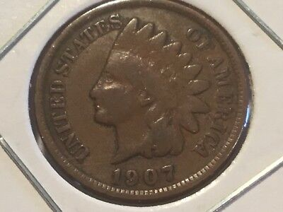 1907 US Indian Head cent. 111 years old.
