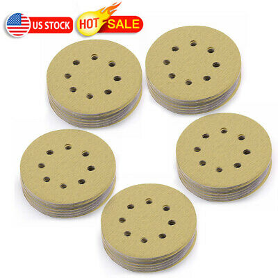 5 inch 120 Grit Sanding Discs Orbit Sander Pad Hook and Loop 8 holes Sandpaper