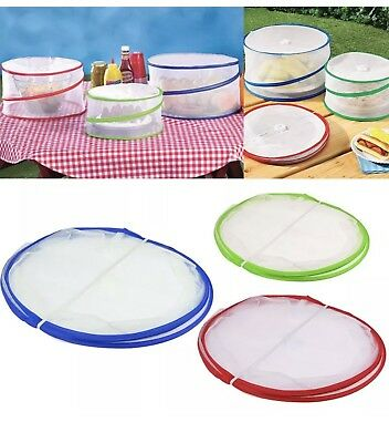 3X Collapsible Pop Up Food Covers Kitchen Outdoor Insect Fly Protector Mesh Net