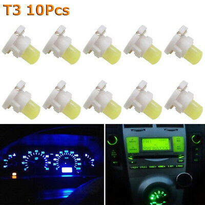 10Pcs T3 COB Wedge LED Dashboard Lamp Panel Bulb Auto Car Instrument Light NEW