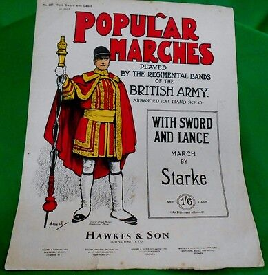 "Popular Marches - ""with Sword And Lance"" Piano Score"