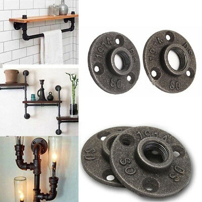 Floor BSP Wall Flange Cast Iron Flanges 1/2 Malleable Industrial Furniture