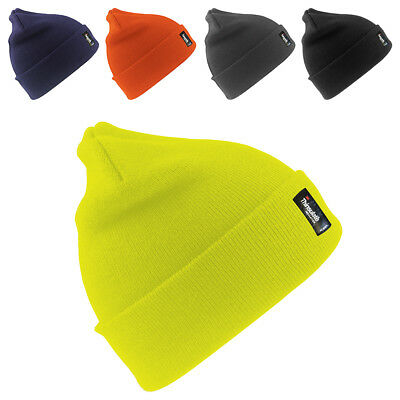 New RESULT Adults Wooly Thinsulate Insulation Ski Beanie Hat 5 Colours One Size