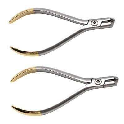 2pc Dental Orthodontic Pliers Distal End Cutter Filaments Ends Cutting Plier