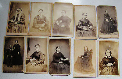 Lot Of 30 Various Antique Civil War Era Cdv Photos Mostly Women 5 Tax Stamps