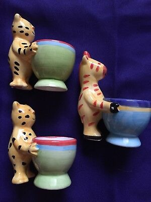 Novelty Ceramic Egg Cups X 3 Jungle Animals