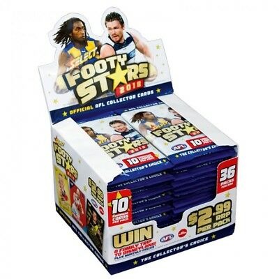 2018 Afl Select Footy Stars Trading Cards Factory Sealed Box 36 Pks