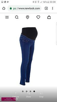 Nwt Ladies New Look Maternity over Bump Jegging Size 14.look At My Items