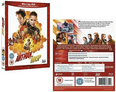 ANT-MAN (2018 - 2) AND THE WASP: MARVEL, Action - NEW Reg. FREE 3D + 2D BLU-RAY