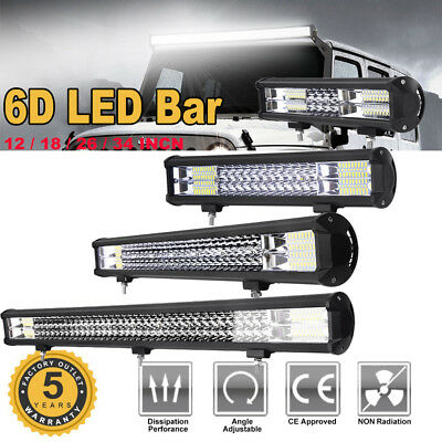6D LED Work Light Bar CREE Spot Combo Beam Offroad Car Truck Work Lamp 12V 24V
