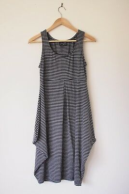 Pea In A Pod Grey And Black Striped Maternity Dress Size 8