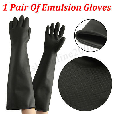 60CM in lattice guanti Gauntlet guanti lunghi gomma PPE industriale Anti chimici