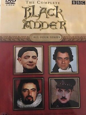 BLACKADDER - The Complete Series 1-4 4 x DVD Box Set Exc Cond! Seasons 1 2 3 4