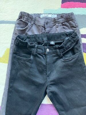 Two Pairs Of Boys Skinny Jeans Excellent Condition, Age 12-13 158cm Black & Grey