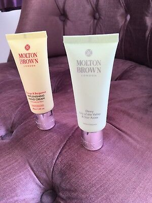 Molton Brown Hand Creams 40ml X 2 Orange And Bergamot & Dewy Lily Of The Valley