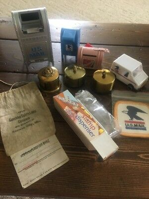 US Mail Stamp Dispensers, Bank, toy LLV And Vintage Patch