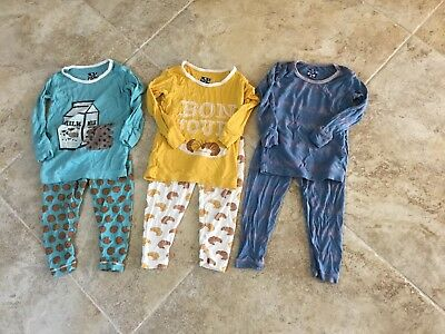 KicKee Pants Boy's Lot of 3 Pair Size 18-24 Months Tops and Bottoms