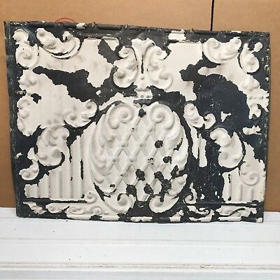 """Pineapple 1pc 24"""" x 18"""" Full Piece Antique Ceiling Tin Vintage Reclaimed Salvage"""