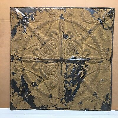 """Torches 1pc 24"""" x 24"""" Full Piece Antique Ceiling Tin Vintage Reclaimed Salvage"""