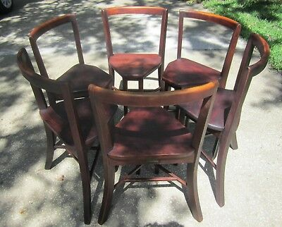 6 Seatmore Frank Rieder And Sons Antique Drug Store Soda Fountain Chairs 1920's