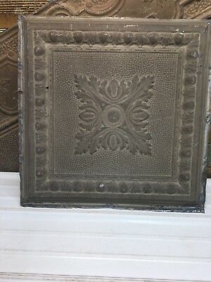 """Medallion 1pc 24"""" x 24"""" Full Piece Antique Ceiling Tin Vintage Reclaimed Salvage"""