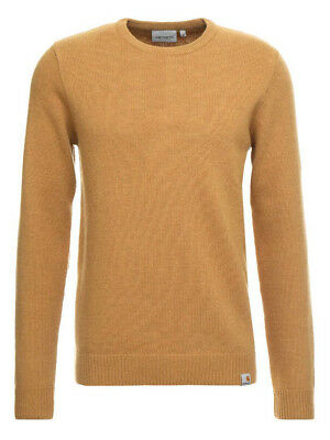 Carhartt Men's Playoff Knit Sweater Jumper In Fawn Brown, Medium, Large, Rrp £75