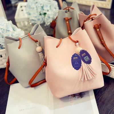 New Design Bucket Shape Tassel Decorated Shoulder Bag Top-handle Bag for Women