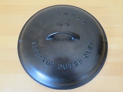 Vintage Griswold #9 Cast Iron Tite-Top Dutch Oven Lid - Large Block Logo - #2552