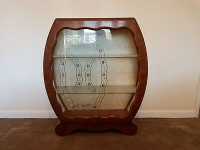 art deco glass display cabinet