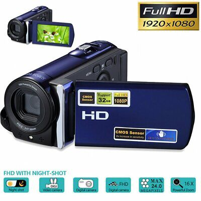 Full HD 1080P 16MP Digital Video Camcorder Camera DV 3.0'' TFT LCD 16x Zoom UK