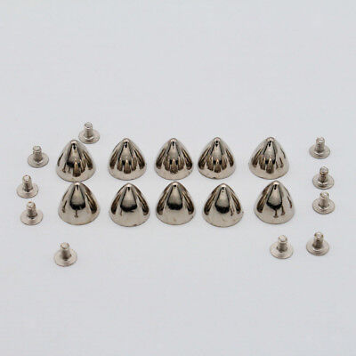 10 Sets Rivet Studs Fasteners for Leather Craft Clothes Bags Embellishment
