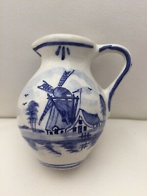 Vintage Small Delft hand Painted Jug with original certificate of authenticity.
