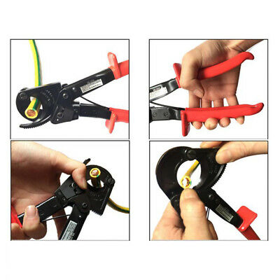 400mm² Ratcheting Wire Cable Cutter Plier Ratchet Cutting Tool w/Safety Lock