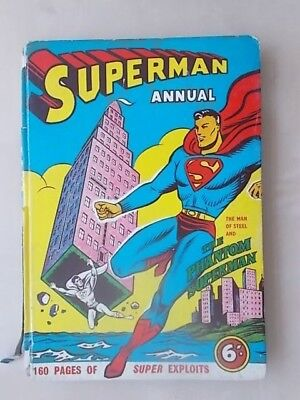 Vintage Rare 1958-9 Superman Adventure Book Annual