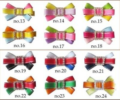 """100 BLESSING Good Girl 2.5"""" Starlight Hair Bow Clip Accessories Wholesale"""