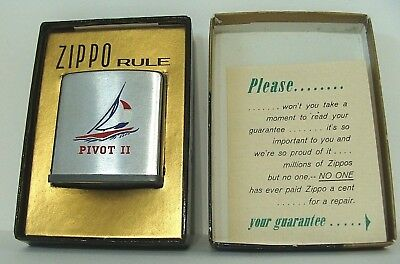1972🔥ZIPPO PIVOT II Sailboat⛵Sailing Rule w/Box NOS Tape measure~ NOT a Lighter