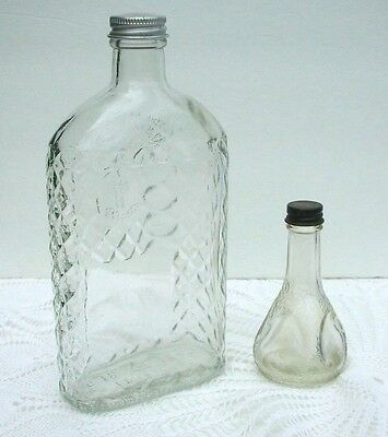Vintage Insist on Virginia Dare Flavors Bottle and Old Liniment Bottle Screw Cap