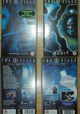 Akte X The X-Files 2 x VHS Kassette Englisch File 5 82517 File 8 Tempus Fugit
