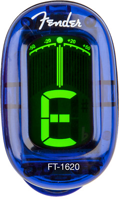Fender California Series Clip-On Chromatic Instrument Tuner, Lake Placid Blue