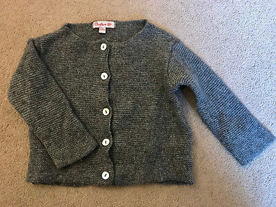 Gorgeous Trotters Confiture grey baby cardigan 3-12 months Cashmere blend